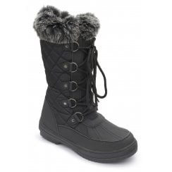 Blizzard Black Waterproof Flat Zip Up Boots