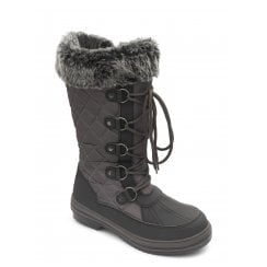 Blizzard Grey Waterproof Flat Zip Up Boots