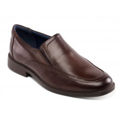 Bond Brown Leather Slip on Shoe