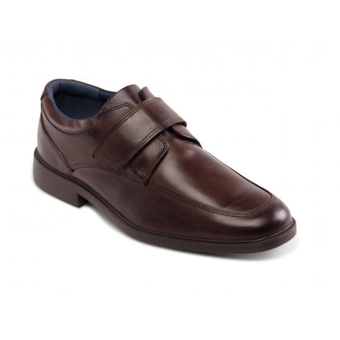 Brent Brown Leather Velcro Fasten Shoe