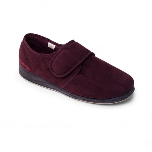 Padders Charles Mens Burgundy Slipper