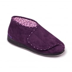 Cherish Purple Wrap Over Slipper