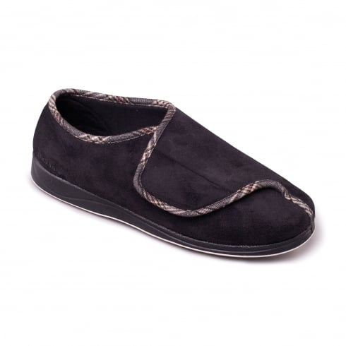 Padders Chris Mens Black Slipper