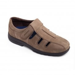 Dawlish Extra Wide Tobacco Leather Cut Out Shoe