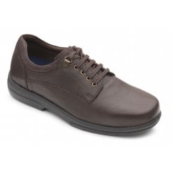Declan Extra Wide Fit Raisin Leather Lace Up Shoe
