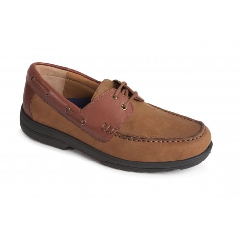 Padders Devon Camel Leather Boat Shoe
