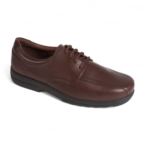 Padders Dexter Brown Leather Lace Up Shoe