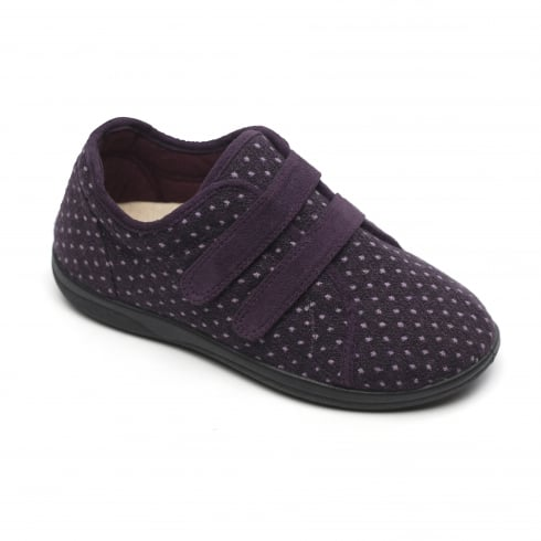 Padders Duo Lilac Twin Velcro Strap Slippers