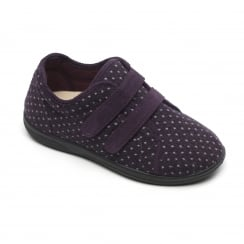 Duo Lilac Twin Velcro Strap Slippers