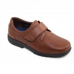 Dylan Tan Leather Velcro Shoe