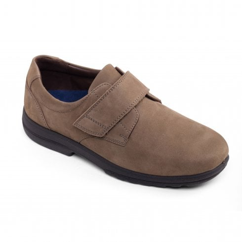 Padders Dylan Tobacco Leather Velcro Shoe