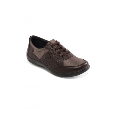 Padders Harp Brown Flat Trainer Style Shoe
