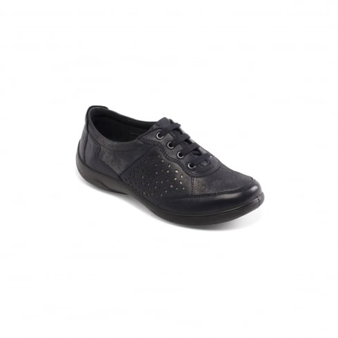 Padders Harp Navy Flat Trainer Style Shoe