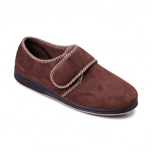 Padders Harry Mens Brown Slipper