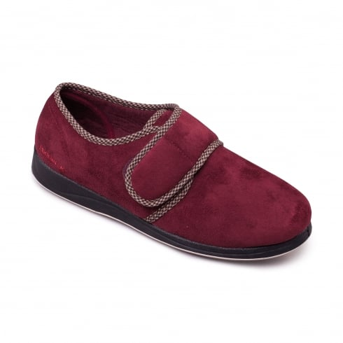 Padders Harry Mens Burgundy Slipper