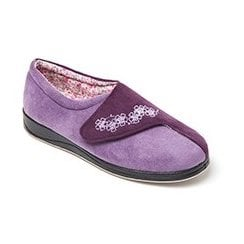 Hug Lilac Easy Fasten Slipper