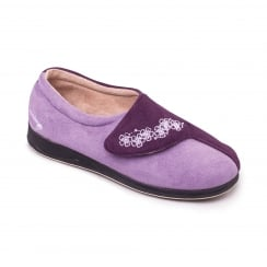Hug Purple Easy Fasten Slipper