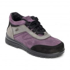 Jump Mauve Waterproof Nubuck Flat Walking Shoe