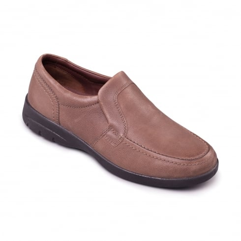 Padders Leo Taupe Leather Shoe