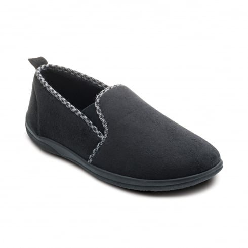 Padders Lewis Mens Black Slipper