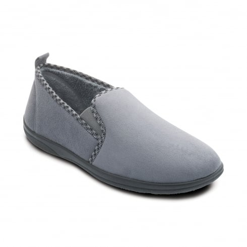Padders Lewis Mens Grey Slipper
