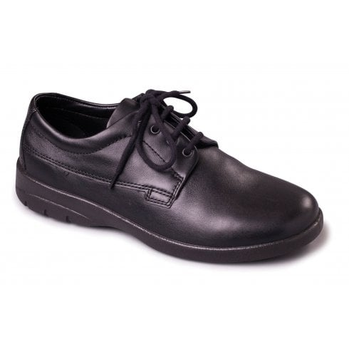 Padders Lunar Black Leather Lace Up Shoe