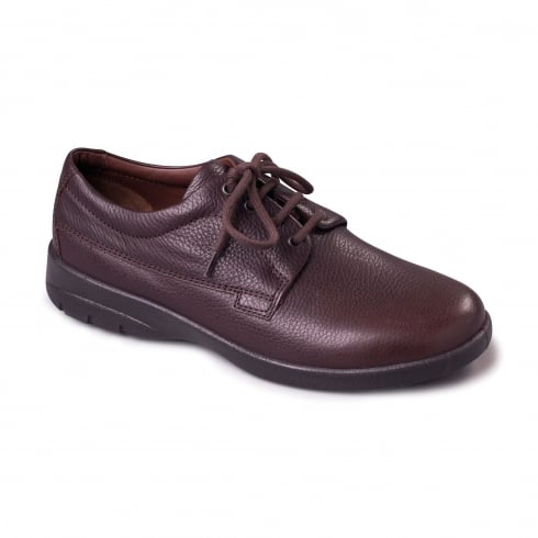 Padders Lunar Brown Leather Lace Up Shoe