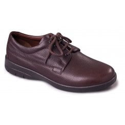 Lunar Dark Brown Leather Lace Up Shoe
