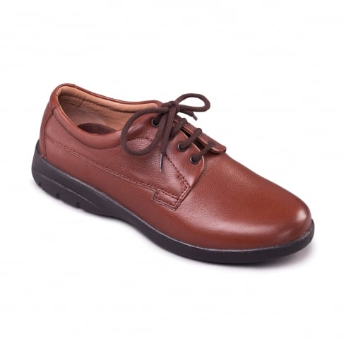 Padders Lunar Tan Leather Lace Up Shoe