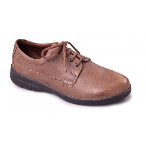 Padders Lunar Taupe Leather Lace Up Shoe