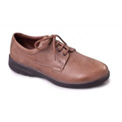 Lunar Taupe Leather Lace Up Shoe