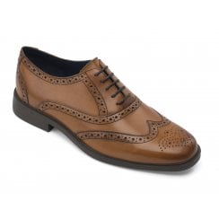 Oxford Cognac Leather Brogue Shoe