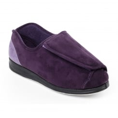 Paula Purple Wrap Over Slipper