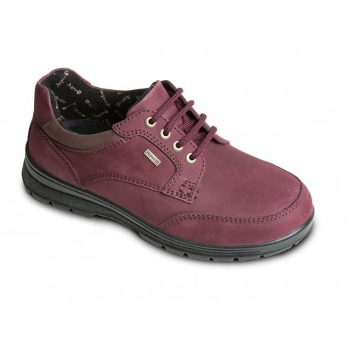 Padders Peak Burgundy Waterproof Leather Flat Lace Up Shoe