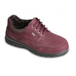 Peak Burgundy Waterproof Leather Flat Lace Up Shoe