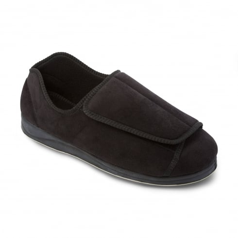 Padders Peter Mens Black Slipper