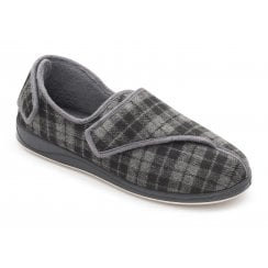 Phillip Extra Wide Fit Grey Combi Strap Slipper