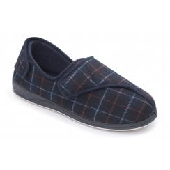 Phillip Extra Wide Fit Navy Combi Strap Slipper