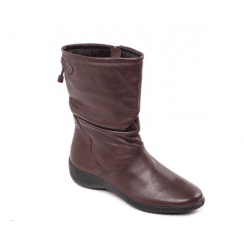 Regan E Fit Brown Leather Flat Calf Boot