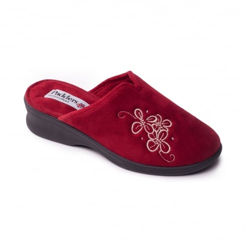 Padders Sable Red Wedge Slipper