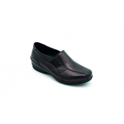 Padders Skye 2 E/2E Fit Rosewood Leather Flat Slip On Shoe