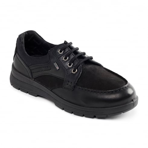 Padders Trail Gortex Black Leather Lace Up Shoe