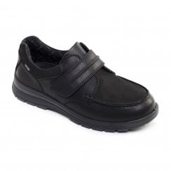 Trek Wide Fit Black Combi Waterproof Leather Velcro Shoe