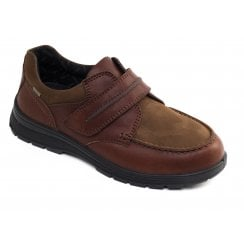 Trek Wide Fit Tan Combi Waterproof Leather Velcro Shoe