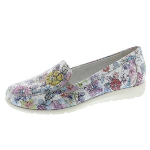 Remonte D1919-90 Ladies Multi-Coloured Flat Slip On Shoe.