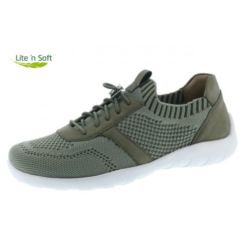 Remonte Green Textile Flat Trainer Style Shoe