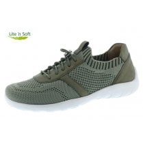 Green Textile Flat Trainer Style Shoe