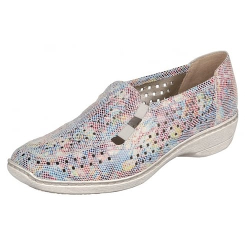 Remonte Multi-coloured flat slip on shoe