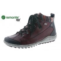 R1495-35 Gortex Red flat boot with laces and side zip