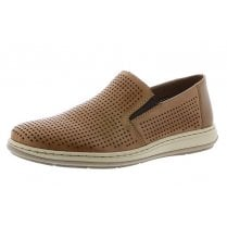 17376-25 Tan Leather Slip On Shoe